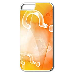 Make Your Own Best Hard Plastic Anti Slip Orange Question Mark Iphone 5s Covers