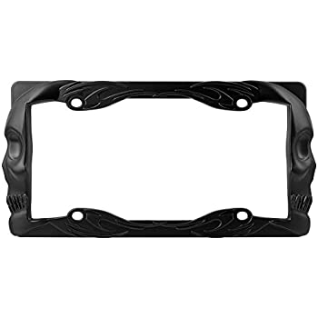 Amazon.com: Skull And Crossbones - Poison License Plate Tag Frame ...