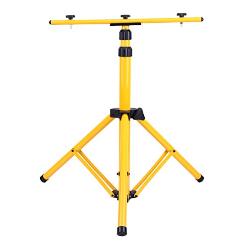 - Yonntech Adjustable Tripod Stand for LED Flood Light Telescoping Steel Floodlight Stand with Heavy Duty Construction Portable Tripod Stand for Home and Job Site Lighting
