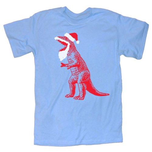 T-shirt Christmas Santa (Happy Family Big Bang Theory Santa T-Rex Ugly Sweater T-Shirt (Large,)