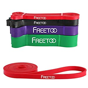 FREETOO Resistance Band Latex Durable Pull Up Assist Band for Powerlifting and Yoga Premium Workout Stretch Exercise… 1