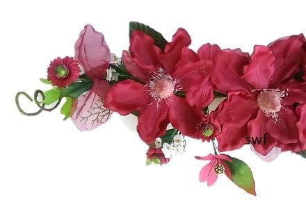 26 Sheer Crinkle Magnolia Swag Silk Wedding Flowers Arch Chuppah Centerpieces Burgundy