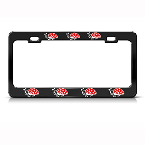- Speedy Pros Ladybug Ladybugs Animal Metal License Plate Frame Tag Holder