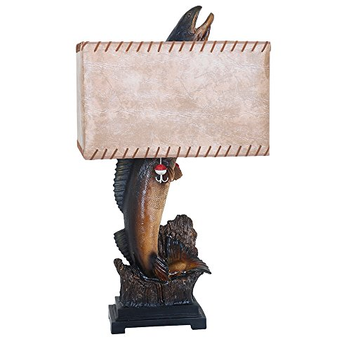 Crestview Collection Walleye Resin Table Lamp