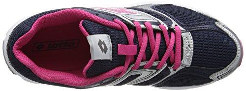Lotto Zenith VII W - Zapatillas de Running Mujer Plata / Azul / Fucsia