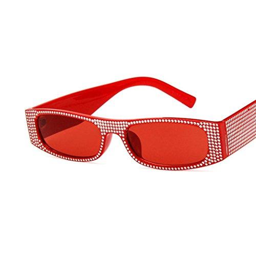 Sun Luxe Dames Femmes Vintage De Lunettes Lunettes Pour Lady Eyewear Mode Soleil De Rivet De Soleil Cover Hommes Perle F Lunettes Hommes Unisexe Lunettes Rectangle UqnPHw
