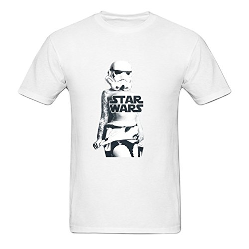 Fuli Lin Men's Sexy Stormtroopers Girl Lost Star Wars Short Tee M White (Storm Trooper Sexy)