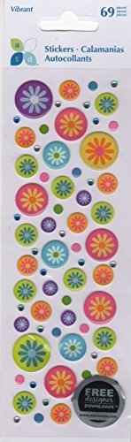 Flower Circles Epoxy Scrapbook Stickers (ST2540) by Momenta