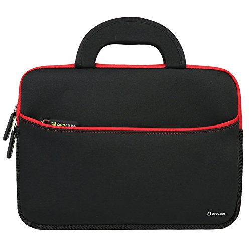 (Evecase Ultra-Portable Neoprene Carrying Sleeve Case Bag For Dell Inspiron 11 3000 Series 11.6 Laptop - Black)