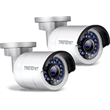 TRENDnet Indoor/Outdoor (TV-IP320PI2K) Bullet Style, Digital WDR, PoE IP Network Camera Kit/2-Pack,  with 1.3 Megapixel 720p HD Resolution, IP66 Weather Rated Housing,  100 ft. Night Vision, ideal for monitoring your home/business remotely, Secu, Free App for Android, and IOS, ONVIF, IPv6 Compliant