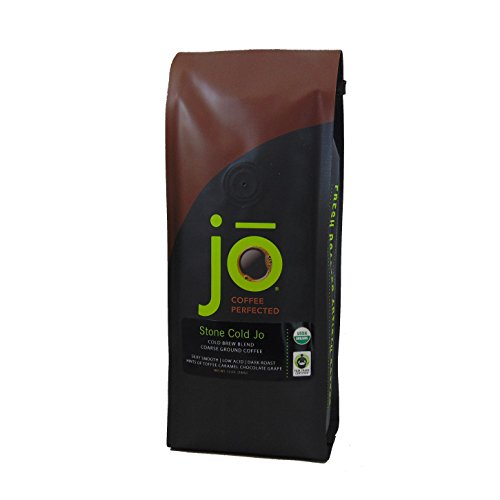 Caramel Organic Coffee - STONE COLD JO: 12 oz, Cold Brew Coffee Blend, Dark Roast, Coarse Ground Organic Coffee, Silky, Smooth, Low Acidity, USDA Certified Organic, Fair Trade Certified, NON-GMO