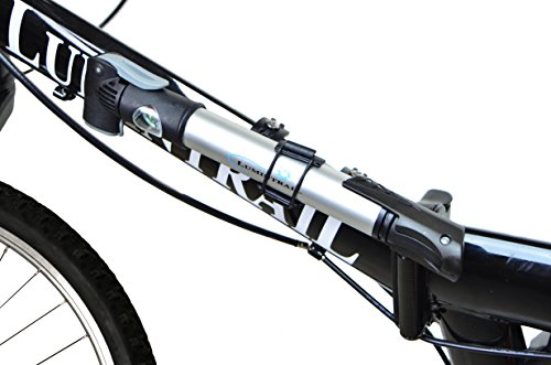 Lumintrail Mini Bike Pump with Gauge and Glueless Puncture Repair Kit w/Presta & Schrader Dual Head, Frame Mount by Lumintrail (Image #2)