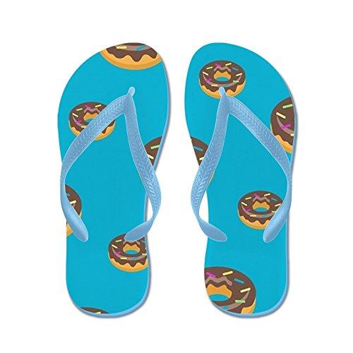 Cafepress Donut Blauw Patroon - Flip Flops, Grappige String Sandalen, Strand Sandalen Caribbean Blue