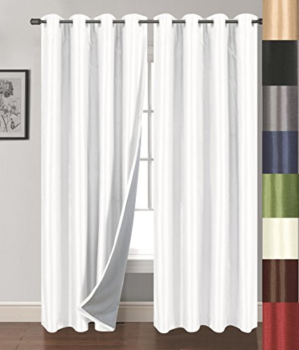 Siena Home Fashions Buona Notte Blackout Curtain (54in x 63in), White