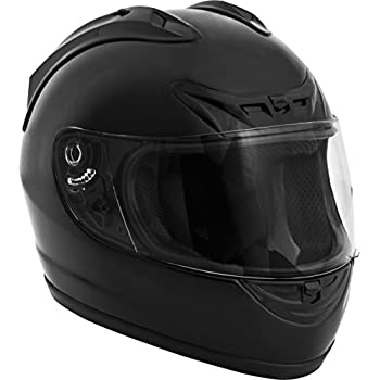 Fuel Helmets SH-FF0016 Full Face Helmet, Gloss Black, Large