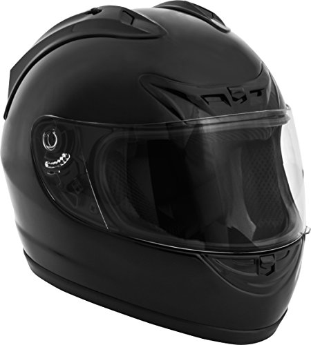 Fuel Helmets SH-FF0016 Full Face Helmet, Gloss Black, (Approved Gloss Black Motorcycle Helmet)