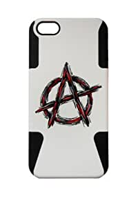 PLASTIC & SILICON BLACK/WHITE CASE FOR IPHONE ipod touch4 ANARCHY COVER