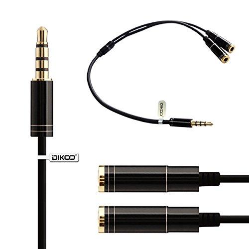 DIKOO Speaker and Headphone Splitter 24K Gold-Plat…