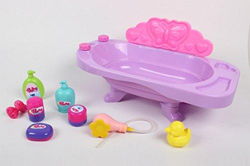 MeeYum Pretend Play Baby Doll Bathtub playset with Accessories (Bath Time Baby Playset)