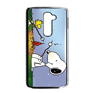 LG G2 Cell Phone Case Black Snoopy Pgjg