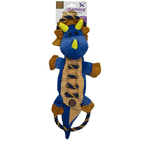 - CHARMING Pet Ropes-A-Go Go-Dragon Squeaky Dog Toy