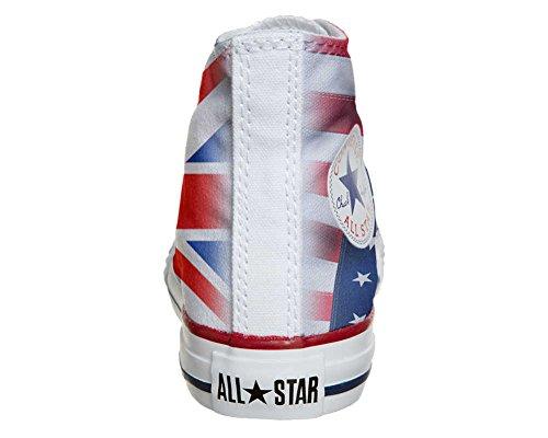 Converse PERSONALIZZATE All Star Hi Canvas, Sneaker Uomo/Donna (Prodotto Artigianale) Usa England Japan