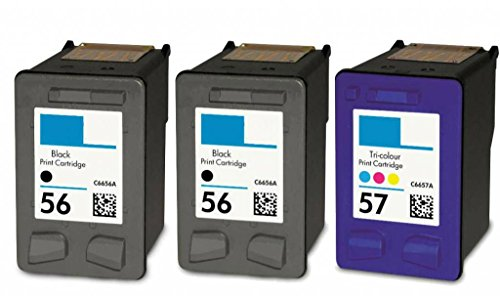 HouseOfToners Remanufactured Ink Cartridge Replacement for HP 56 ( Black , 3-Pack )