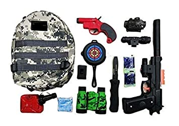 Buy Barodian S Pretend Play Army Toy Play Set Police Play Set Toy With Bag Toy Gun Target Board Toy Binocular Bullet Bottle Crystal Bullet For Kids Online At Low Prices In