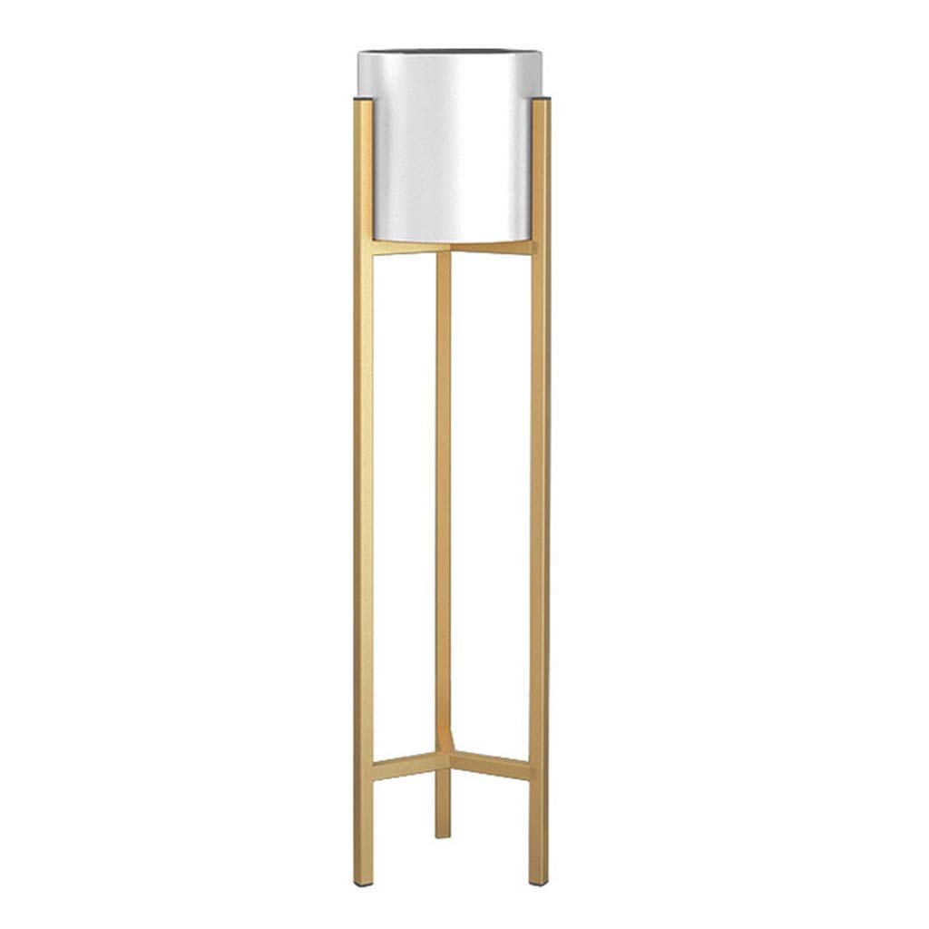 Mensola per Fiori Stand per Fiori Stand per Piante in Vaso Vasi per Fiori Stand per Scale in Ferro Vetrina per balconi Camera da Letto Giardino Bianco + oro Dimensioni 21x60   90 Cm (LxH)