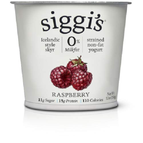 - Siggis Fat Free Raspberry Yogurt, 5.3 oz