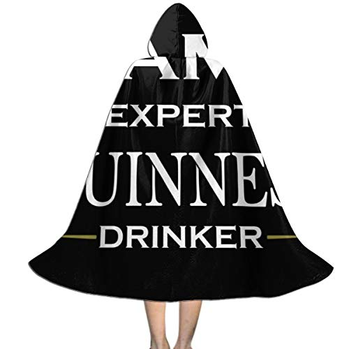 Guinness Halloween Costume (Personalised Guinness Expert Drinker Unisex Kids Hooded Cloak Cape Halloween Xmas Party Decoration Role Cosplay Costumes)