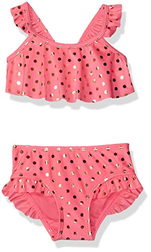 Hulu Star Little Girls' Milkshake Two Piece Bikini Swimsuit, Pink, - Hula Suit Bikini Girl Bathing