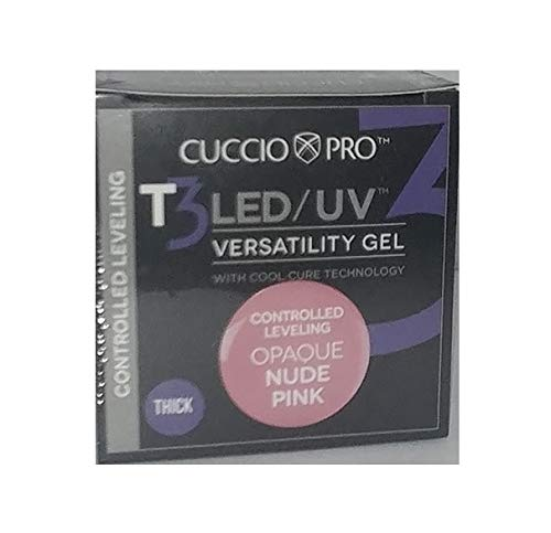 宇宙飛行士舗装櫛Cuccio Pro - T3 LED/UV Gel - Controlled Leveling - Opaque Nude Pink - 1 oz / 28 g