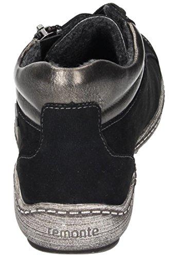 Remonte R1483, Botas Chukka para Mujer Negro (Schwarz/altsilber/schwarz)