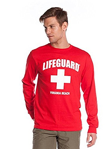 LIFEGUARD Official Guys Long-Sleeve Printed Tee Red