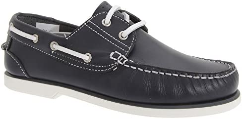 Dek Boys Leather Non Marking Moccasin Boat Shoes 6 Uk