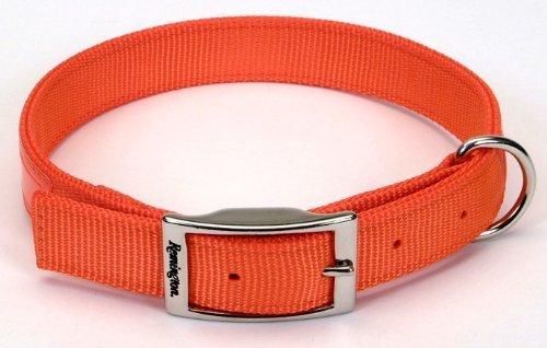 Remington Nylon Dog Collar - Remington Orange 1-Inch by 24-Inch Reflective Dog Collar