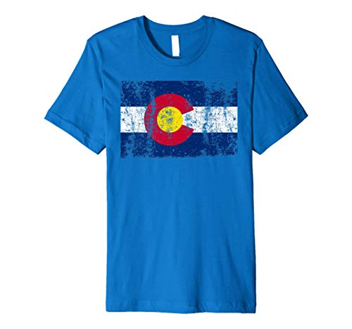 (State of Colorado Flag T SHIRT Vintage Retro Christmas)