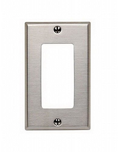 Leviton 84401-40 Stainless Steel Decora Wall Plate (12 Pack)