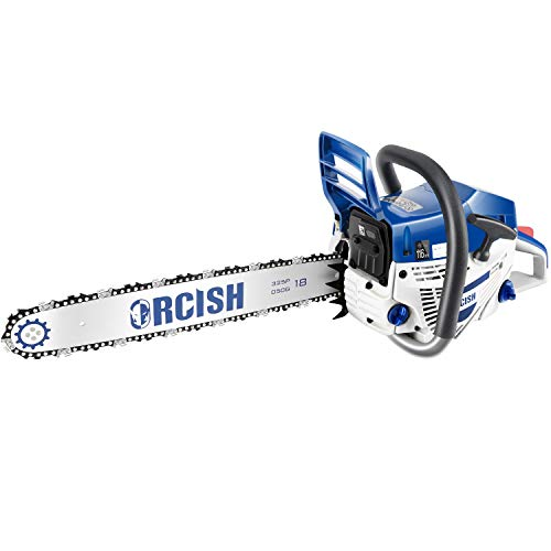 ORCISH 52cc 2 Cycle 18Inch Gas Powered Chainsaw