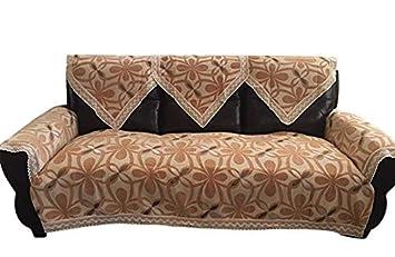 Phenomenal Octorose Chenille Lace Sofa Back Covers Gold 2Pc 24X35 Triangle Back Cover Machost Co Dining Chair Design Ideas Machostcouk