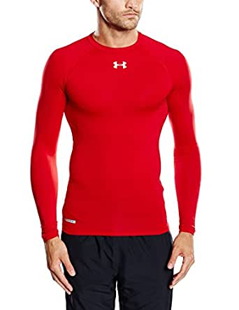 Under Armour Heat Gear Sonic Compression Long Sleeve Top - Small - Red