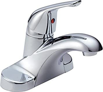 Delta Foundations B510LF Single Handle Centerset Bathroom Faucet ...