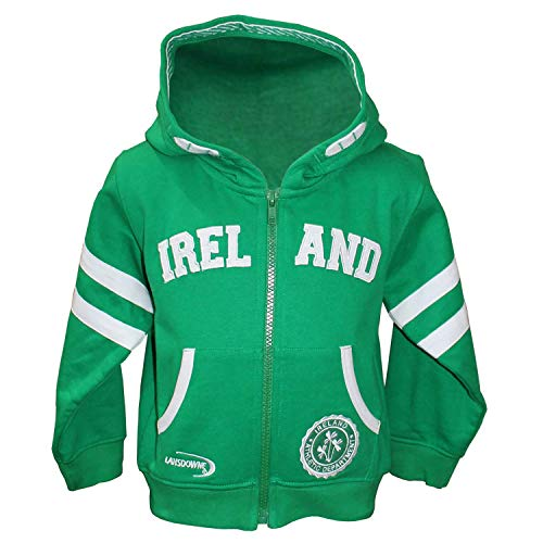 Carrolls Irish Gifts Full Zip Baby Hoodie With Ireland Design, Emerald Green Colour