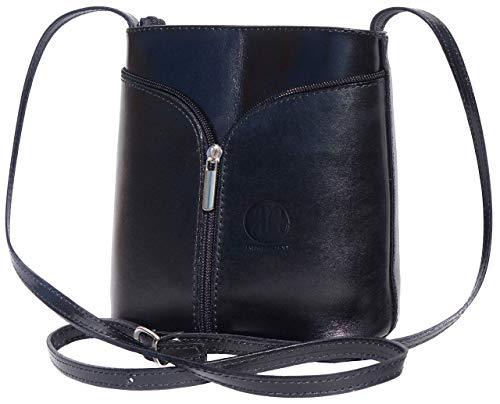 Patent Crossbody bags for women, Genuine Leather Purses and Handbags - Premium Crossover Crossbody Bags Over the Shoulder Small Crossbody Purses Florence ()