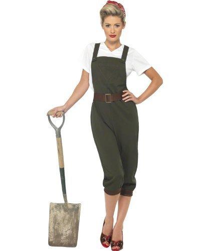 Smiffys Ww2 Land Girl Adult Costume Small - 6-8 by Smiffy's (Girls Ww2 Costume)