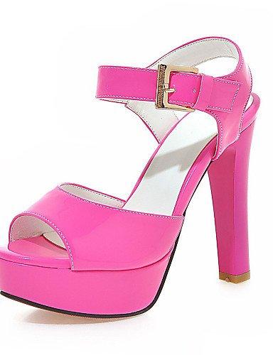 LFNLYX Zapatos de mujer-Tacón Stiletto-Tacones / Plataforma / Talón Descubierto / Punta Abierta-Sandalias-Vestido / Fiesta y Noche-Semicuero- Black