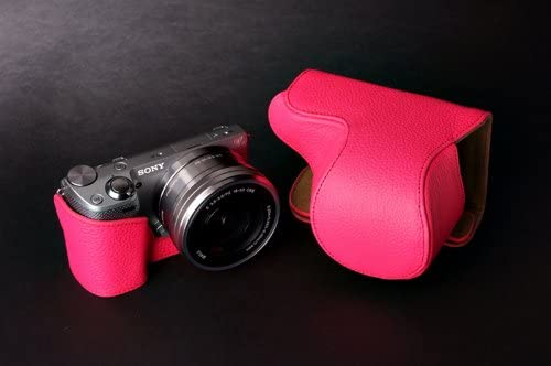 Handmade Genuine Real Leather Full Camera Case Camera bag for Sony NEX5T NEX5R 10 colors