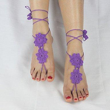 Y&XL&H Frauen Mode Blumen häkeln Spinnennetz Muster einfache Knöchel ...