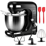 Stand Mixer Kitchen Mixer , 7-Speed 5.5QT Tilt-Head Food Electric Mixer with Dough Hook&Wire Whip&Beater&Stainless Steel Bowl